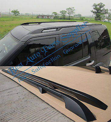 For 2005-2016 Land Rover Discovery 3 & 4 Extended Roof Rails (Black )