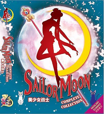 Anime DVD Sailor Moon Season 1 - 6 + 3 Movie Complete ENGLISH DUBBED Box Set
