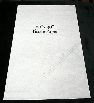 50 Sheets Of Premium White Tissue Paper 20x 30 Matte Finish Free Shipping