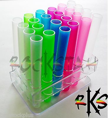 Unbreakeable Test Tube Plastic Shot Shooters Tooters- Pick Color, Quantity, Caps