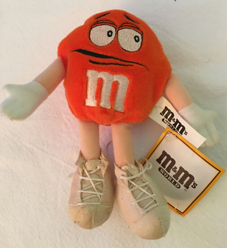 m&m's World Crispy Orange Plush Beanie, Pre- Owned