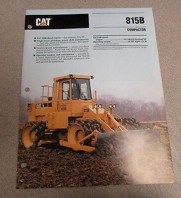 Cat Caterpillar 815b Compactor Specification Brochure Manual 1992 Aehq3753