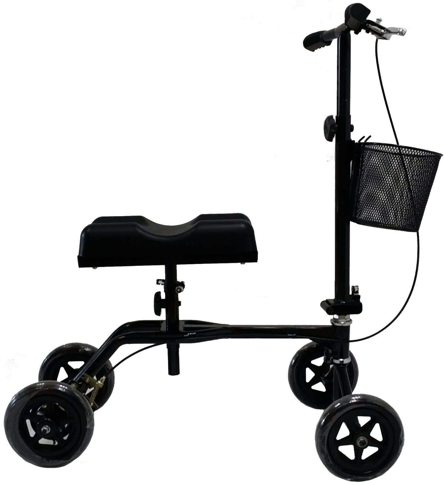 New Black Steerable Foldable Knee Walker Scooter Turning Bra
