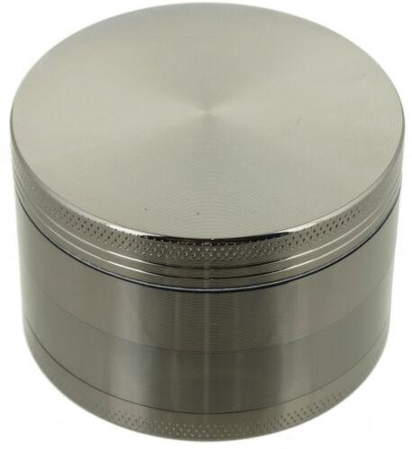 "2.5"" Tobacco Herb Grinder Spice Herbal 4 PC Metal Chromium Alloy Smoke Crusher"