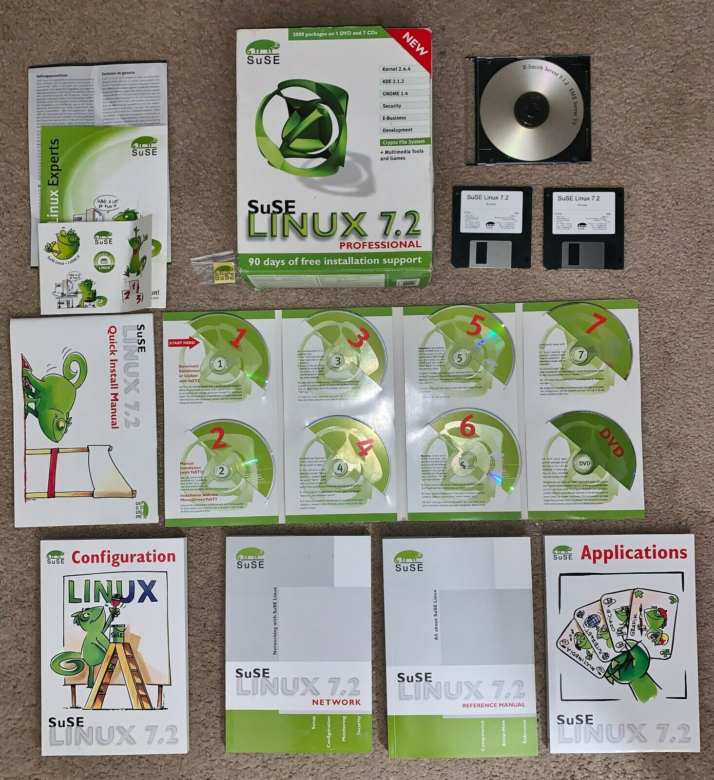 SuSE LINUX 7.2 Professional Software Package 100% Complete