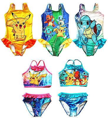 UK SELLER Pokemon Go Girls Swimwear Swimming Costume Pikachu Squirtle Charmander - Girls Pokemon Costume