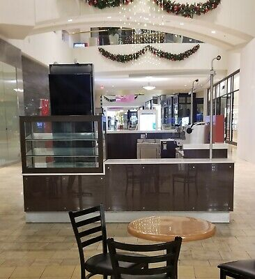 Mall Food Kiosk For Ice Cream Hot Items Pastry Coffee Drinks Retail