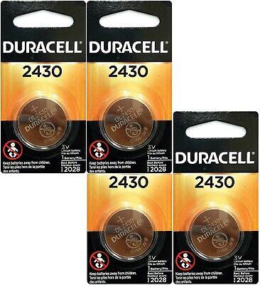 4 x Duracell Lithium CR2430 3V Coin Cell batteries DL2430 ERC2430 K2430L (Lithium Batteries Cr2430)