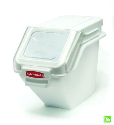 Rubbermaid Commercial Shelf Ingredient Bin With Scoop 100-cup Capacity White