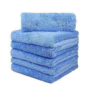 "12Pcs Microfiber Towel Edgeless Lint Scratch Free Cleaning 16""x16"" Blue"