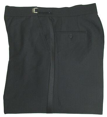 Adjustable Tuxedo - New With Tags Black Flat Front Adjustable Waist Tuxedo Pants Wedding Prom Mason