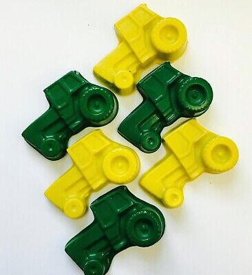 50 Tractor Crayons Party Favors Farm John Deere Transportation Birthday  - Tractor Favors