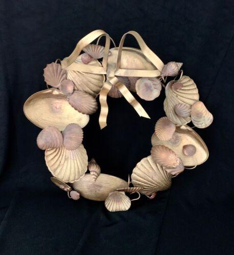 "Dresden Petites Choses Brass Seashells 11"" Wreath"