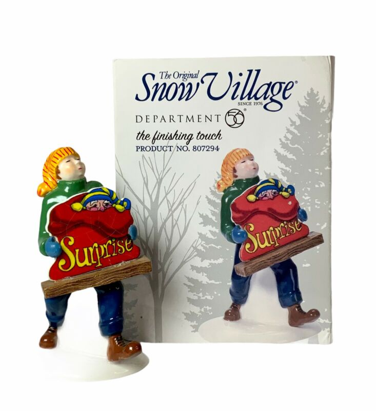 """Dept 56 The Original Snow Village - Accessory """"The Finishing Touch"""" #807294"""