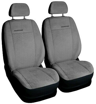 Car seat covers front seats universal grey FAUX SUEDE fit Volvo XC90
