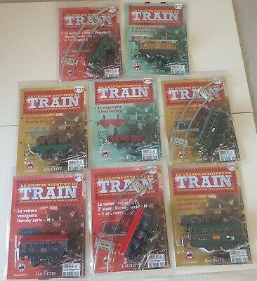 Set of 8 pieces locomotive, cars, La grande aventure du TRAIN HORNBY collection