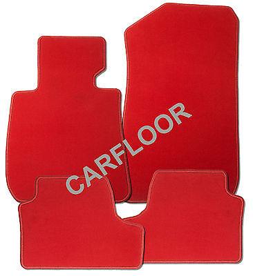 Für Mercedes Benz SL R107 alle Baujahre Fußmatten-Satz  Velours  Deluxe rot