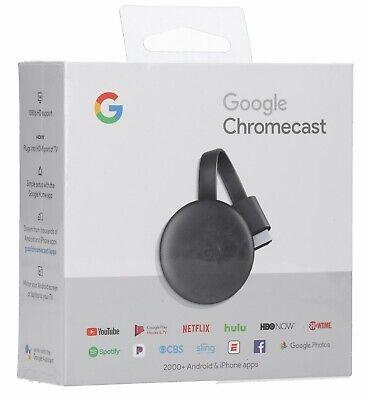Google - Chromecast (Latest Model) Streaming Media Player - Charcoal