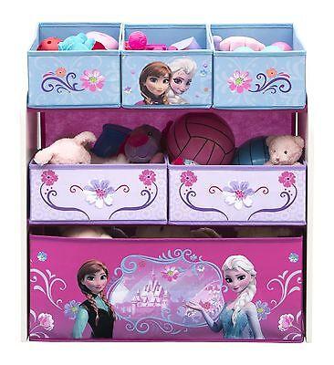 Toy Organizer Storage Box Children Disney Frozen Kids Bedroom Furniture Playroom