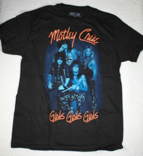 Motley Crue Girls Girls Girls Black T Shirt size L Large Anniversary [GS N]