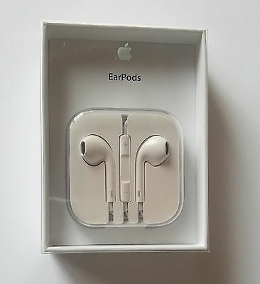 Unused Original Apple EarPods Earphones with Remote and Mic - MD827LL/A - WHITE