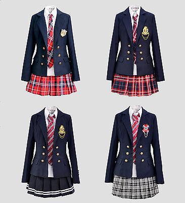 Cosplay Kostüm Lolita Marine Manga Schul-Uniform Student Japan Rock Britisch - Britische Marine Kostüm