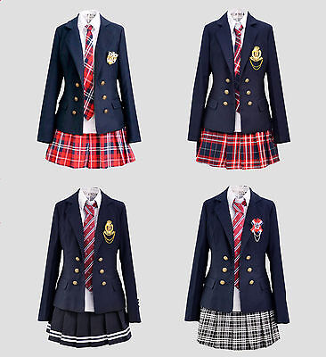 Cosplay Kostüm Lolita Marine Manga Schul-Uniform Student Japan Rock Britisch neu