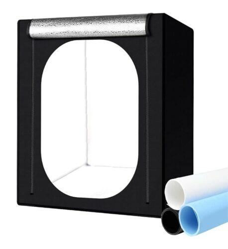 Photo Light Studio Booth Box Tent Kit w/ 6 LED Lights & 3 Backdrops