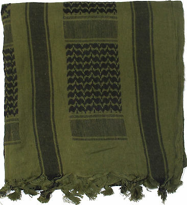 "Olive Drab Lightweight Shemagh Arab Tactical Desert Keffiyeh Scarf 42"" x 42"""