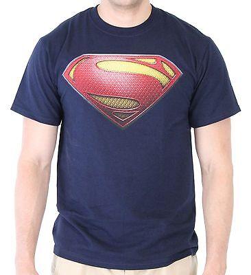 Adult DC Comics Hero Movie Man of Steel Superman S Shield Logo Costume Tee Shirt