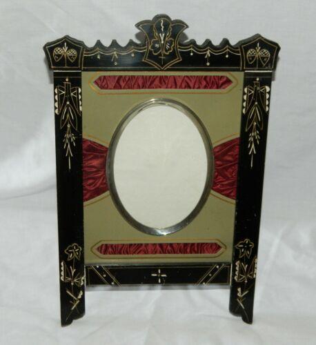 HANDSOME Victorian 1870s EASEL Ebonized EASTLAKE Antique Frame FANCY MAT Look!