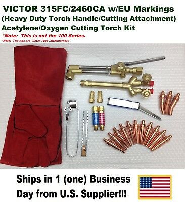 Victor 315fc Torch W2460 Cutting Attachment Acetyleneoxygen Cutting Kit Setup