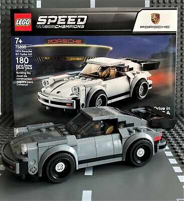 "LEGO SPEED CHAMPIONS 1974 PORSCHE 911 TURBO 3.0 ""CUSTOM GRAY"" #75895 NEW"