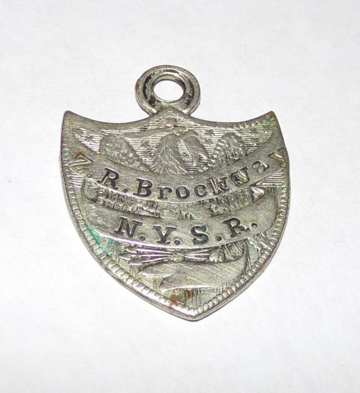 Antique 1860s ZEBULON BROCKWAY Silver New York State Reformatory Pendant Badge