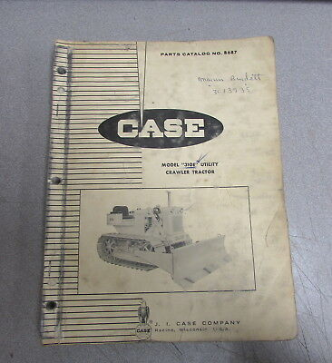 Case 310e Utility Crawler Tractor Parts Catalog Manual 1964 B687