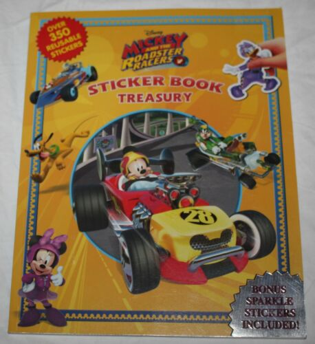 Disney Mickey & the Roadster Racers Sticker Book Treasury 350 Reusable Stickers