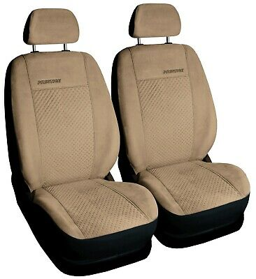 Car seat covers front seats universal FAUX SUEDE fit VW TOURAN beige