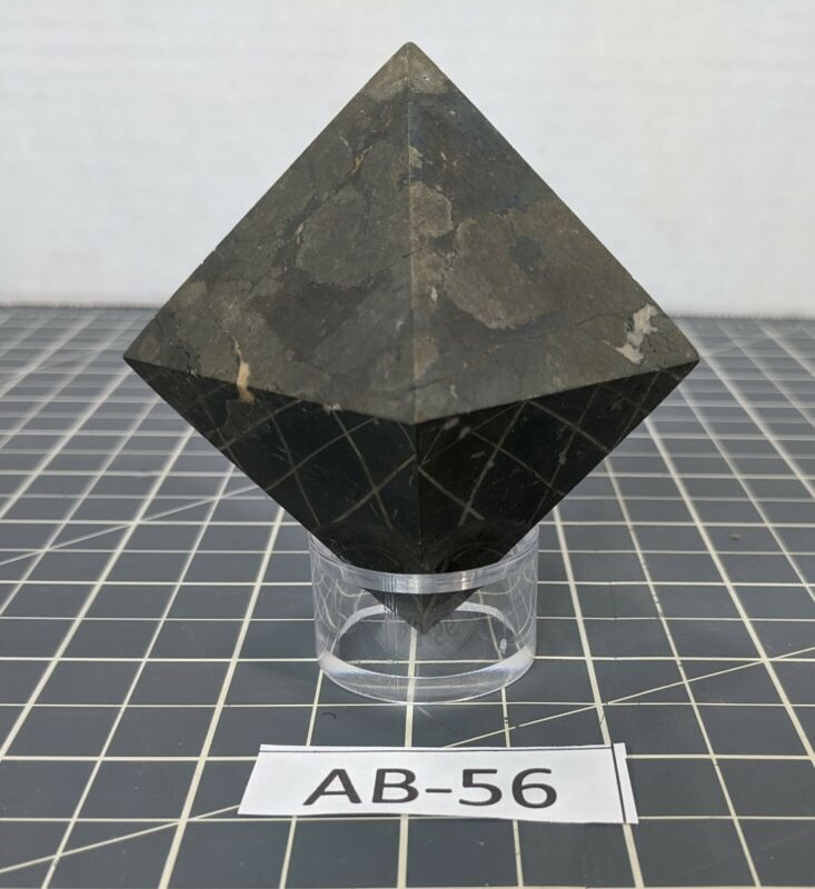 """** Large Cut Pyrite Octohedron (Approx. 3"""" tall, 13oz) AB-56"""