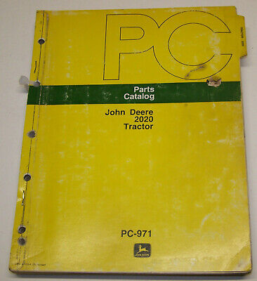John Deere 2020 Dealer Parts Catalog Pc-971