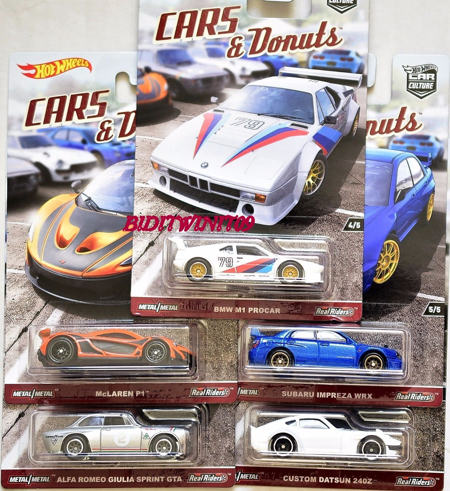 Купить HOT WHEELS 2017 CAR CULTURE CARS DONUTS SET OF 5 DATSUN SUBARU BMW