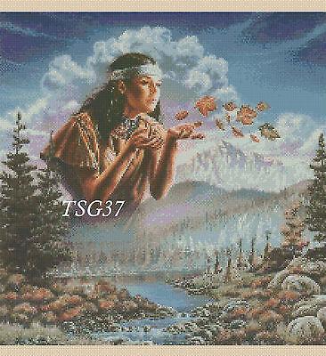 Cross Stitch Chart - Native American Indian Girl No 277 TSG37