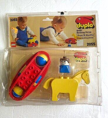 Vintage Lego Duplo 2055 Baby Rocking Horse Set w/Figure
