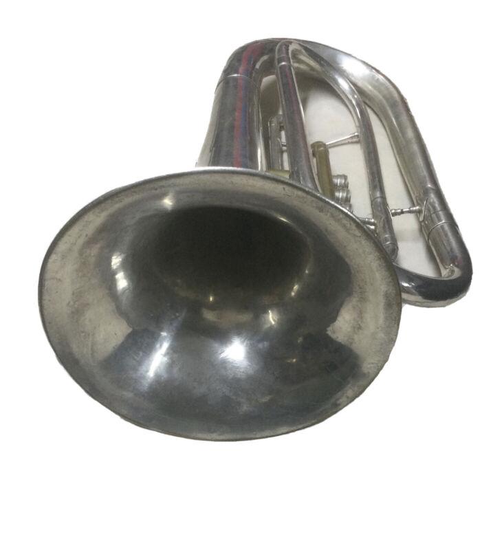 King 1124 Marching Baritone - Silver