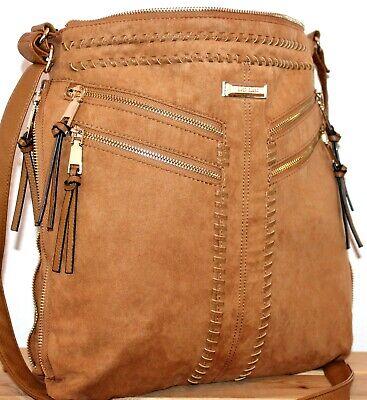 River Island Boho/Hobo Tan Bucket Satchel/Messenger/Shoulder Bag/Tote/Purse, usado comprar usado  Enviando para Brazil