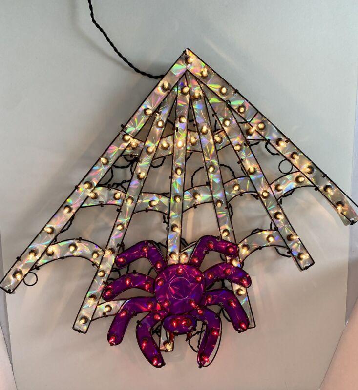 Halloween Spider & Web 100 Holographic lights Purple