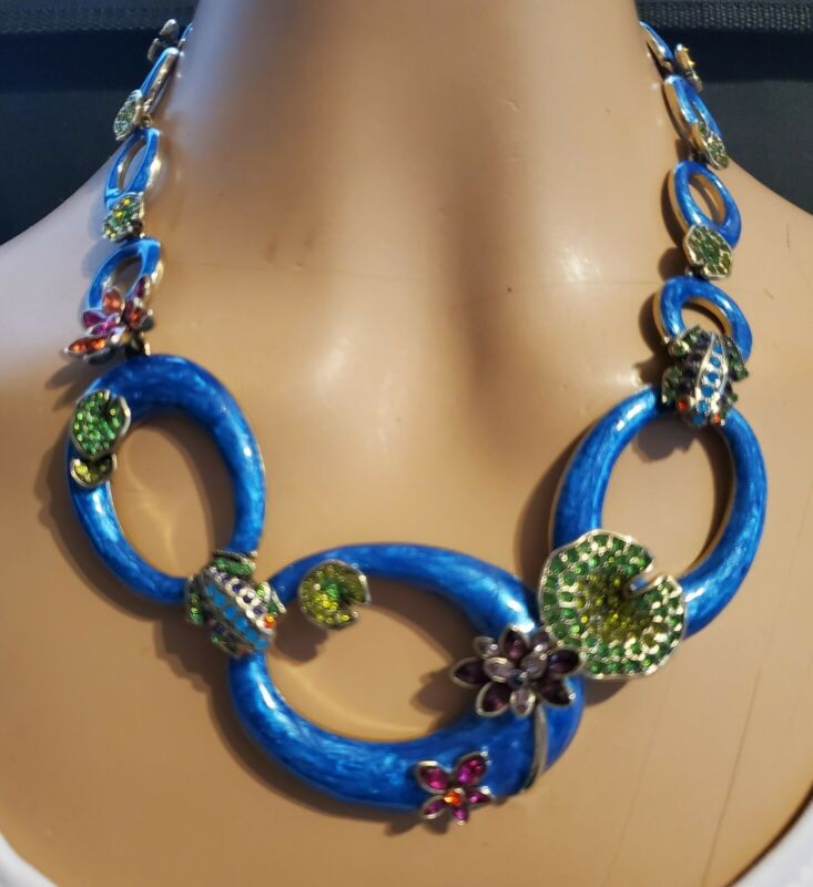 Heidi Daus Leaping Luxury Crystal and Enamel Necklace    Ret: $259.95
