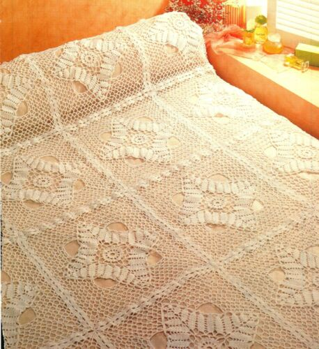 GORGEOUS White Ferns Bedspread/Afghan/Crochet Pattern INSTRUCTIONS ONLY