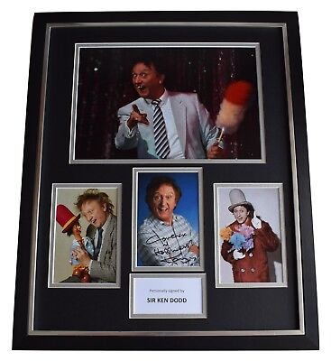 Ken Dodd SIGNED Framed Photo Autograph Huge display Liverpool Comedy COA