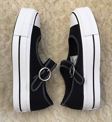 Converse Chuck Taylor All Star Mary Jane Trainers Shoes Black White UK4.5 RRP£55