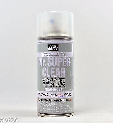 MR HOBBY ACRYLIC SPRAY 170ml SUPER CLEAR SEM-GLOSS B516